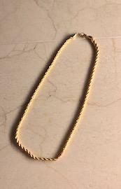 Twist Chain Necklace (gold)