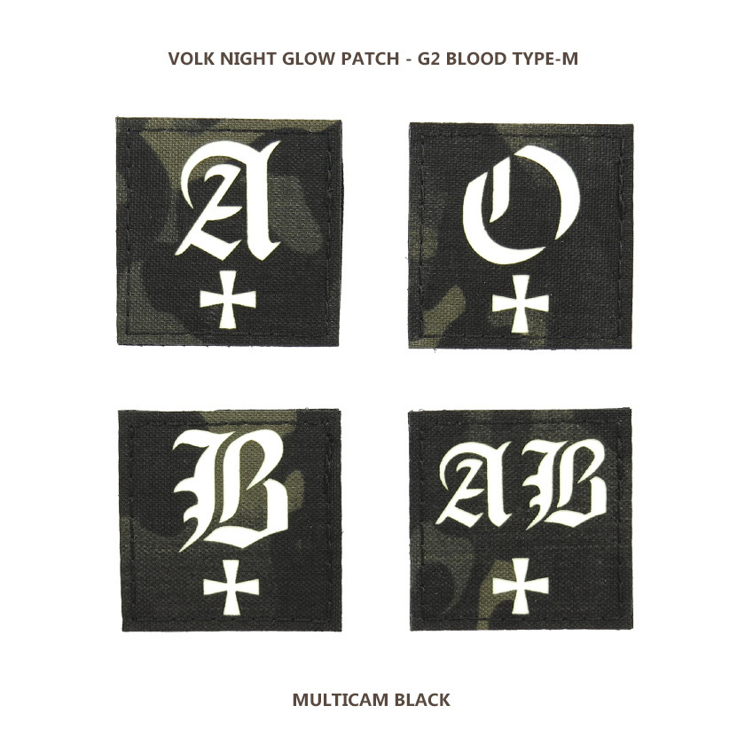 NIGHT GLOW PATCH / G2 BLOOD TYPE-M / MC BLACK
